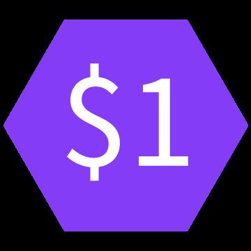 $1-hexagon